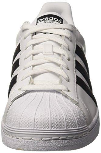 adidas Superstar, Baskets Basses Homme Blanc (Footwear White/Core Black/Footwear White)