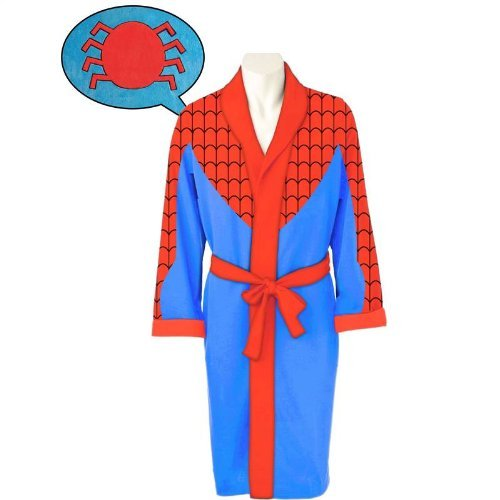 New Marvel Comic Close Up Spiderman Fleece Polyester Robe by Marvel