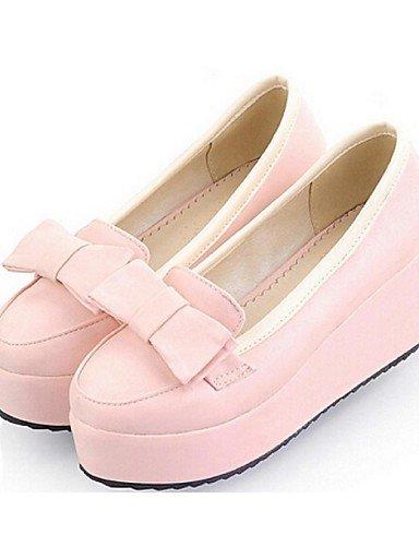 ZQ Scarpe Donna - Mocassini - Casual - Zeppe - Zeppa - Finta pelle - Blu / Rosa / Beige , pink-us8 / eu39 / uk6 / cn39 , pink-us8 / eu39 / uk6 / cn39 pink-us6 / eu36 / uk4 / cn36