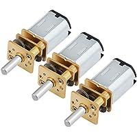 HSEAMALL Motor de reducción de velocidad micro, Mini motor de caja de engranajes, Motor de engranaje eléctrico, 3 Pieces