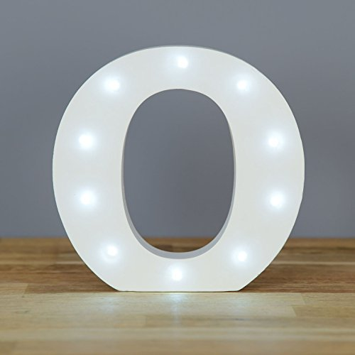 Up in Lights Decorative LED Alphabet White Wooden Letters for sale  Delivered anywhere in UK