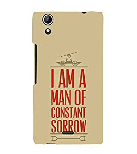 FUSON Man Of Constant Sorrow 3D Hard Polycarbonate Designer Back Case Cover for Micromax Canvas Selfie 2 Q340