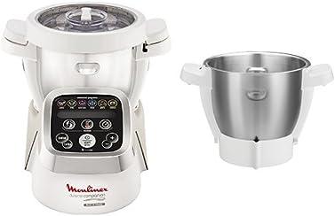 Moulinex HF802AA1 Cuisine Companion Robot Multifunzione + XF380E Seconda Bowl