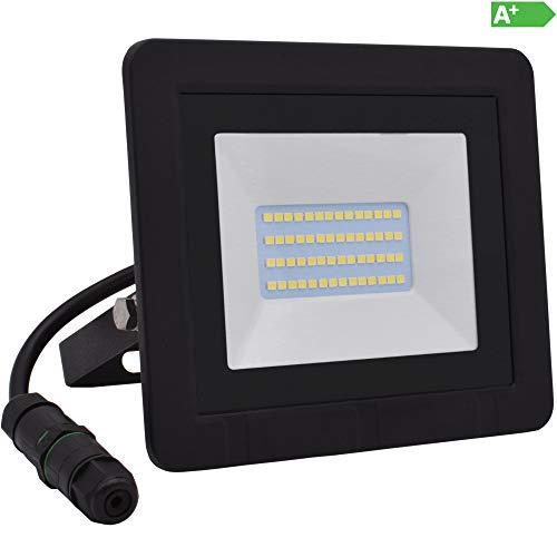 Lumare Foco LED 20W reflector extra plano IP65 3000k para exterior e...