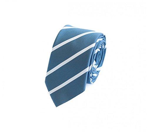 Fabio Farini Étroit Cravate en bleu gris