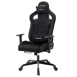 SONGMICS Bürostuhl Gaming Stuhl Schreibtischstuhl Sportsitz Chefsessel schwarz RCG03H