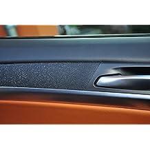 T/ürleisten 12 tlg Alu geb/ürstet schwarz Interieurleisten 3D Folien SET 100/µm stark Mittelkonsole Aschenbecher passend f/ür Ihr Fahrzeug
