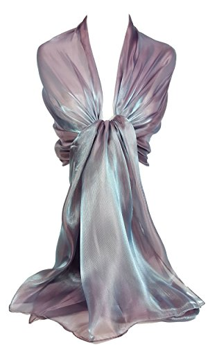 Gfm sciarpa a stola in tessuto velato brillante e iridescente (wg)(shim-24-hltlglb)