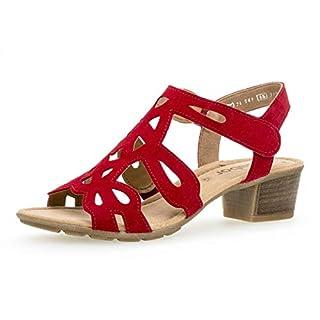 Gabor Damen Sandaletten 24.561.15, Frauen Sandaletten,Sommerschuhe,offene Absatzschuhe,hoher Absatz,Rubin,37.5 EU / 4.5 UK
