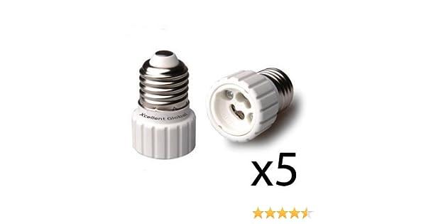 4x E27 To Gu10 Led Light Socket Adapter Socket Adapter Lamp Bulb Converter White Lamp Holder Converters