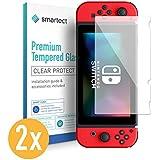 smartect Protection d'Écran en Verre Trempé pour Nintendo Switch [2 Pièces] - Film Protecteur Ultra-Fin de 0,3mm - Vitre Robuste avec 9H de Dureté et Revêtement Anti-Traces de Doigts