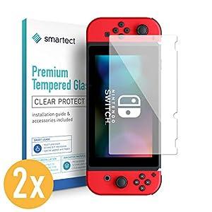 smartect Panzerglas kompatibel mit Nintendo Switch [2 Stück] – Displayschutz mit 9H Härte – Blasenfreie Schutzfolie – Anti Fingerprint Panzerglasfolie