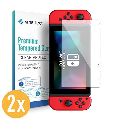 smartect Panzerglas für Nintendo Switch [2 Stück] - Displayschutz mit 9H Härte - Blasenfreie Schutzfolie - Anti Fingerprint Panzerglasfolie (Pet-privacy Screen)