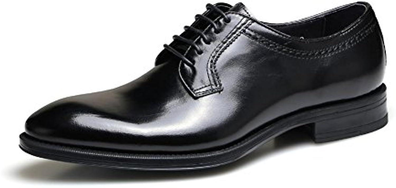 Uomini Formale Attività commerciale Nozze Nero Pelle Scarpe appuntito Dito del piede fatto a mano Oxford Allacciare...   Economico    Sig/Sig Ra Scarpa
