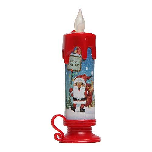 Amphia Weihnachten Dekoration - LED Kerzen mit beweglicher Flamme - Echt Flammen Effekt LED Echtwachskerzen mit Fernbedienung,