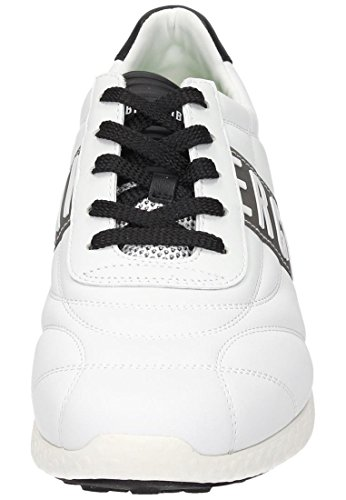 BIKKEMBERGS Herren Strik-Er 895 Niedrige Sneaker Weiß