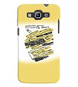 Fuson Premium Wall Writing Printed Hard Plastic Back Case Cover for Samsung Galaxy Grand Quattro i8552