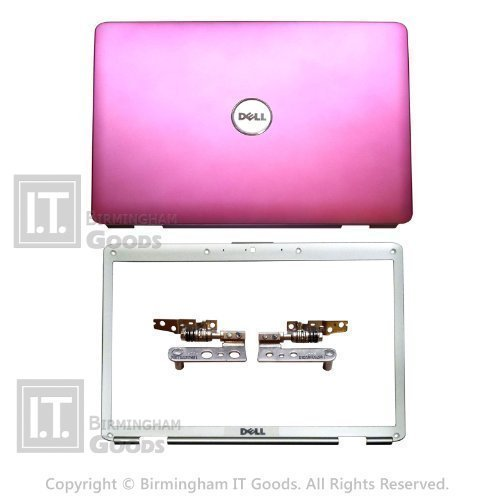 NEW DELL INSPIRON 1525 1526 COVER LID PINK with BEZEL HINGES WIRES SET TY055