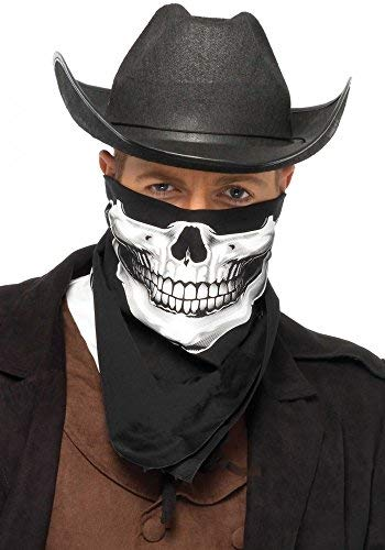 Bandana von Leg Avenue Skull Biker Tuch Halloween Maske Skelett Gesicht ()