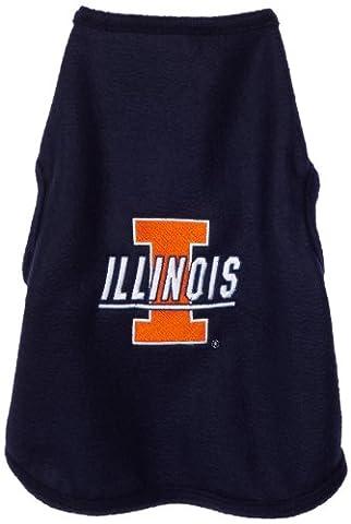NCAA Illinois Illini Polar Fleece Dog Sweatshirt, Large