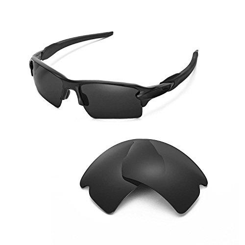 Walleva Ersatzgläser für Oakley Flak 2.0 XL Sonnenbrille - Mehrere Optionen (Schwarz - polarisiert)