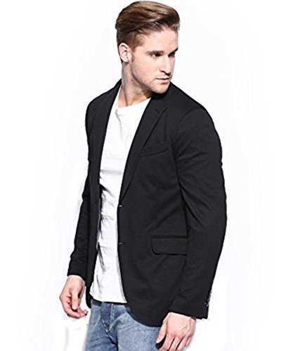 Bregeo Men's Blazer (BFK4-36_Black_36)