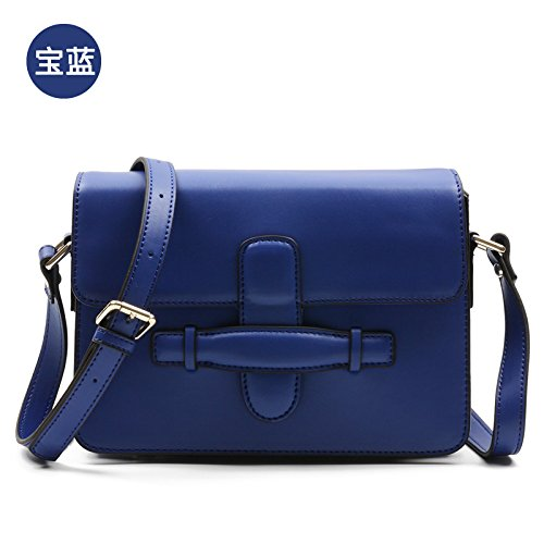 Syknb Obliquo Borsa Piccola Confezione, Moda Piccole Piazza Borsa,Claret Royal Blue