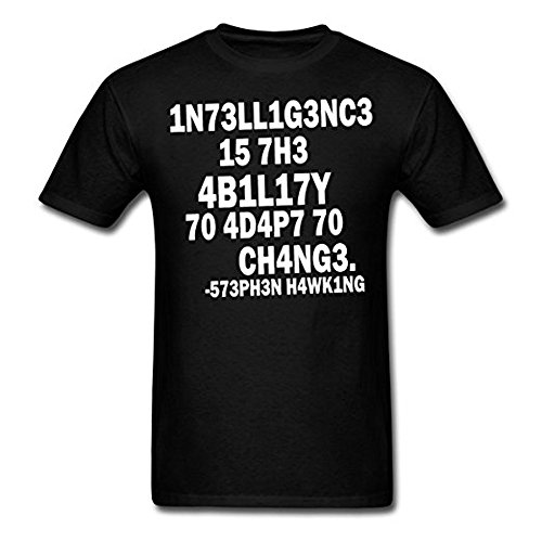 Kingko_ Intelligence Stephen Hawking Quote Men's T-Shirt - Eternity Is a Very Long Time, especially Towards The End
