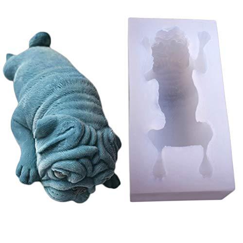 SUPVOX 3D Mops Hund Form Silikon Schimmel, Mousse Kuchen Schimmel, Polymer Clay Schimmel, Handwerk, Harz Epoxy, DIY Mode Dekoration Tools Fondant Schimmel, Seife Schimmel, Kerze Schimmel -