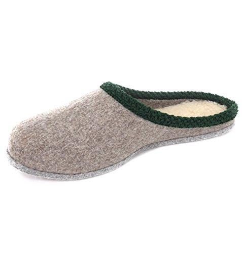WEROR Herren & Damen – Erzgebirgische Filzpantoffeln – Hausschuhe Filzschuhe Pantoffeln Filzhausschuhe - WEROR-103.1 (41 EU, Grau)