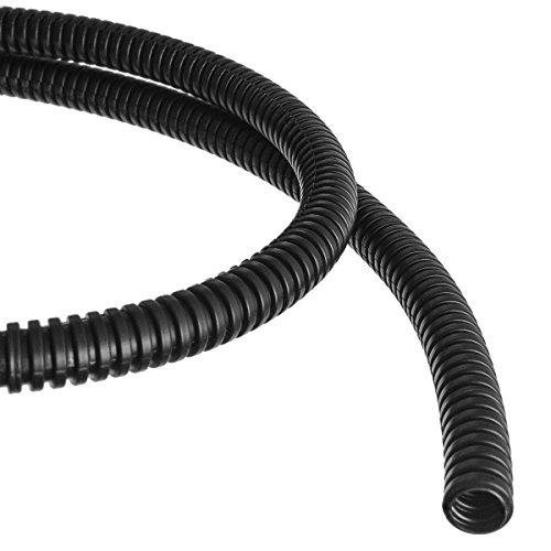 Wellrohr mit Schlitz Schutzrohr Kabelschutz Schutzschlauch geschlitzt Meterware (Außendurchmesser: 13,0mm)