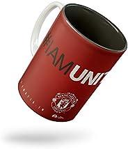 Tee Mafia Ceramic Manchester United Mug - 1 Piece, Black, 11 oz