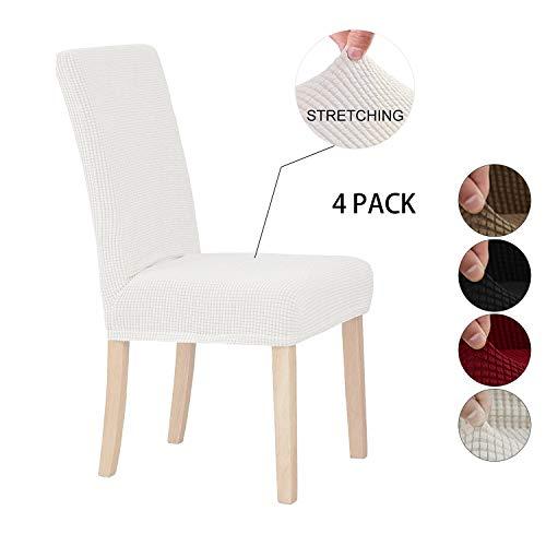 Sonnis Fundas para sillas Pack de 4 Fundas sillas Comedor, Lavable Extraíble...