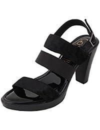 Catwalk Black Cone Heel Sandals