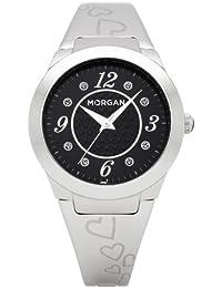 86508aa320e4 Morgan De Toi M1099B - Reloj analógico para mujer de acero Inoxidable negro