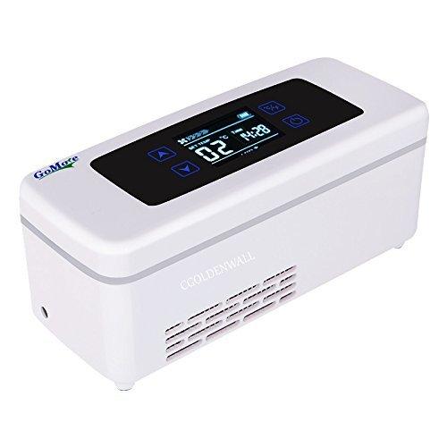CGOLDENWALL15StundenTragbare Insulin Kühlbox Elektrische Intelligente Mini-Kühlschrank für Medikamente Kühler Drogenreefer Kühltasche mit 2-8 ℃ Thermostat mit USB für Reise Auto Flugzeug