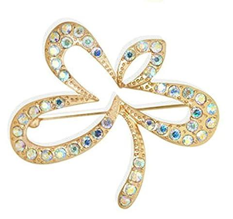 Gnzoe Bijoux, Homme Femme Broche Faux Diamant Leaf Forme De Mariée Mariage Broche Pins la Mariée Pour Mariage Or