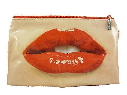 Catseye Trousse de toilette grande taille Motif bouche avec rouge-lèvres