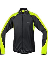 Gore Bike Wear Phantom 2.0 Windstopper Soft Shell - Chaqueta para hombre, color negro / amarillo neón, talla M