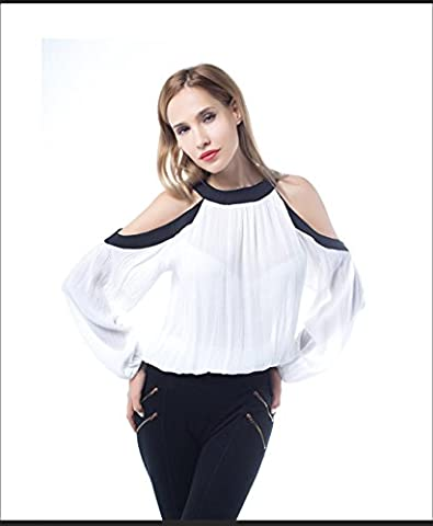 Good dress Bottom shirt long sleeves,white,L