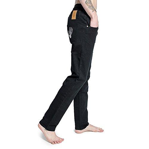 Blue Banana Weiße Skeleton Hand Jeans (Schwarz) Schwarz