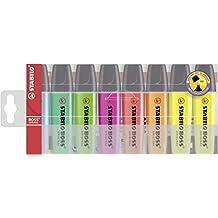 Textmarker - STABILO BOSS ORIGINAL - 8er Pack - Sondersortierung