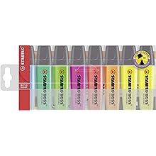 STABILO AZN70/8-3 Boss Original Highlighter Wallet of 8 Assorted Colours