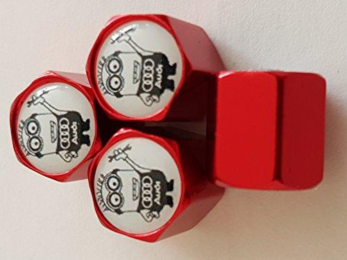 Speed Demons AUDI Schergen Abrath Fiat rot deluxe-Legierung ventil Kappen diese Staubkappen passen alle (Passen Schergen)