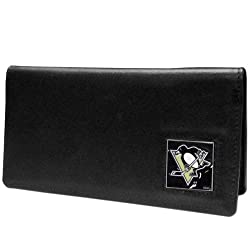 NHL Pittsburgh Penguins Leather Checkbook Cover