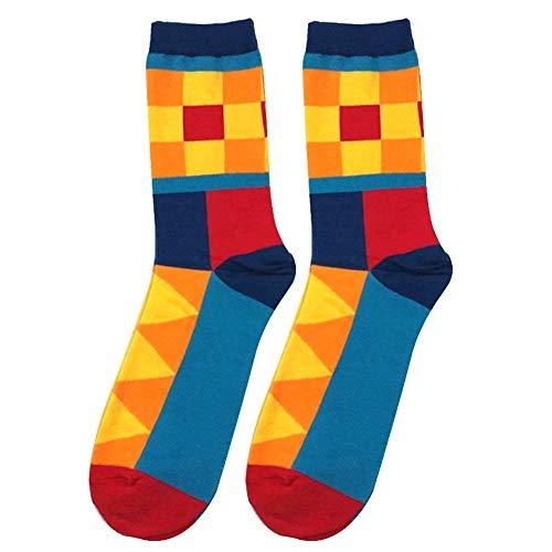 uen Bunte Geometrische Schweiß Absorbierende Stretch Baumwolle Lange Rohr Socken 5# L ()