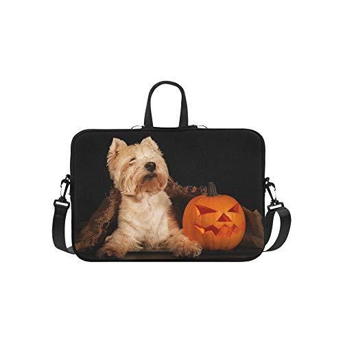 ghland Terrier Halloween Aktentasche Laptoptasche Messenger Schulter Arbeitstasche Crossbody Handtasche Für Geschäftsreisen ()