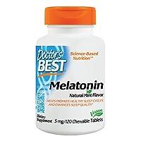 Doctor's Best, Melatonin, Natural Mint Flavor, 5 mg, 120 Chewable Tablets
