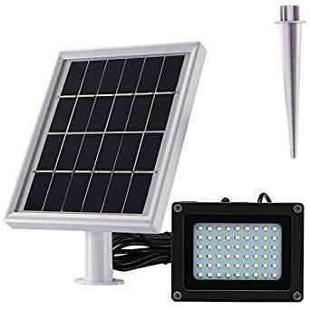 SODIAL Lampe solaire LED 500 Lumen IP65 Indice d'etancheite a l'eau projecteur solaire parfait pour cour,belvedere,arriere-cour
