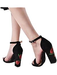 4715c9700da4 Amazon.fr   chaussures talon carre noir - Chaussures femme ...